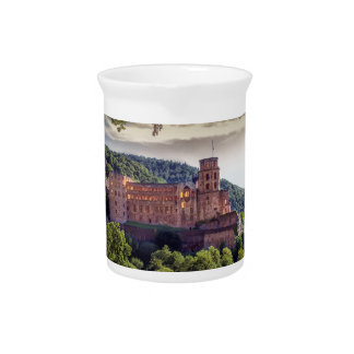 Famous castle ruins, Heidelberg, Germany Pitcher