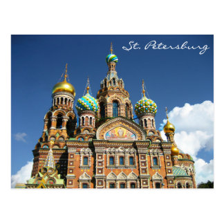 Famous Church from St. Petersburg Russia Postcard