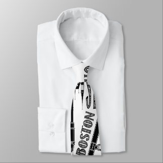 Famous Cities, Black and White Neck Tie