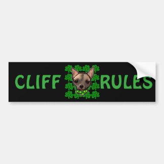 FAMOUS CLIFF BUMPER STICKER