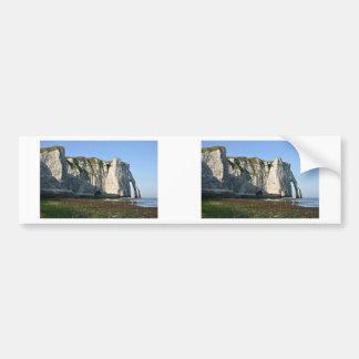 Famous cliffs of Etretat in France Bumper Sticker
