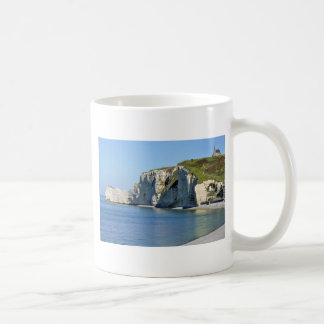 Famous cliffs of Etretat in France Coffee Mug