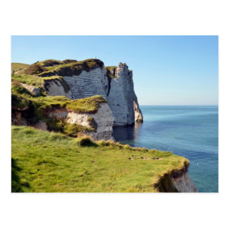 Famous cliffs of Etretat in France Postcard