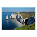 Famous cliffs of Etretat in France Poster