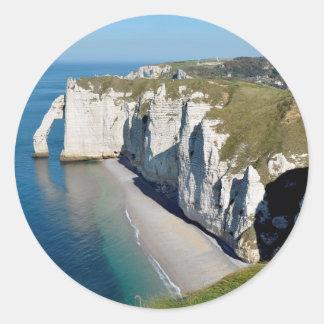 Famous cliffs of Etretat in France Sticker