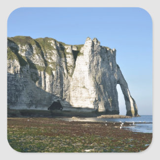 Famous cliffs of Etretat in France Square Sticker