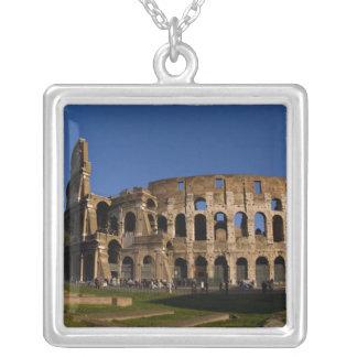 Famous Colosseum in Rome Italy Landmark 2 Silver Plated Necklace