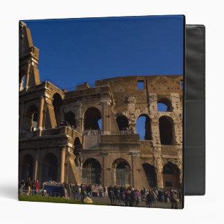 Famous Colosseum in Rome Italy Landmark 3 Ring Binder