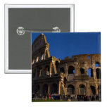 Famous Colosseum in Rome Italy Landmark 2 Inch Square Button