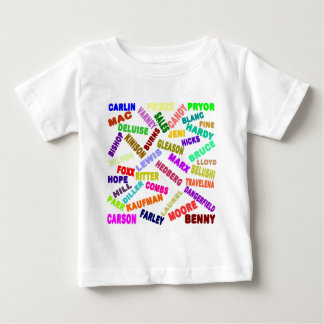 Famous Comedian Collage Baby T-Shirt