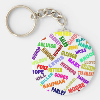 Famous Comedian Collage Keychain