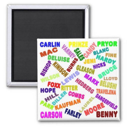 Famous Comedian Collage Fridge Magnets