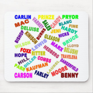 Famous Comedian Collage Mouse Pad