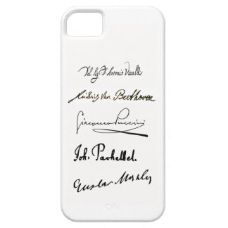 Famous Composer's Signatures iPhone 5/5s Case