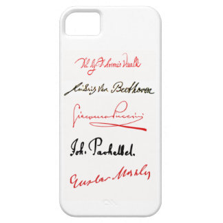 Famous Composer's Signatures iPhone 5/5s Case v.2