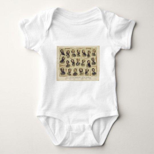 Famous Confederate Commanders of the Civil War Baby Bodysuit