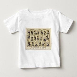 Famous Confederate Commanders of the Civil War Baby T-Shirt