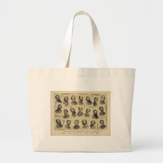 Famous Confederate Commanders of the Civil War Large Tote Bag