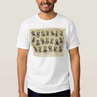 Famous Confederate Commanders of the Civil War T Shirt