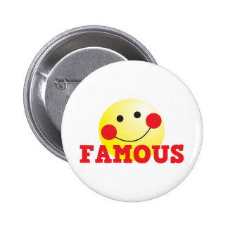 FAMOUS cute face 2 Inch Round Button