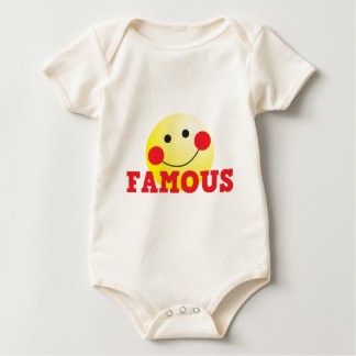 FAMOUS cute face Baby Bodysuits