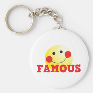FAMOUS cute face Basic Round Button Keychain