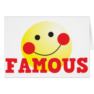 FAMOUS cute face Card