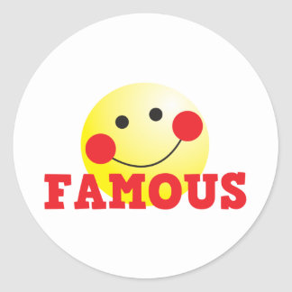 FAMOUS cute face Classic Round Sticker