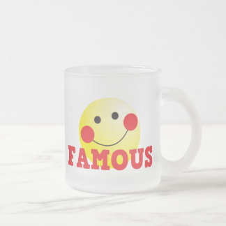 FAMOUS cute face Frosted Glass Coffee Mug