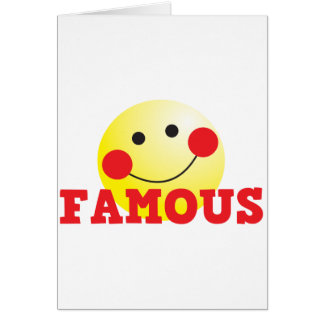 FAMOUS cute face Greeting Card