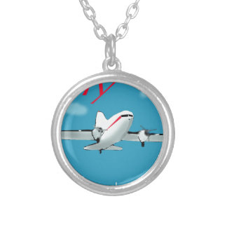Famous Douglas DC3 aircraft Silver Plated Necklace