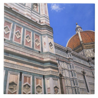 Famous Doumo Church close-up in Florence, Italy Tile