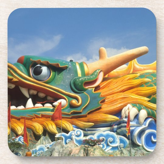Famous Dragon at Haw Par Villa in Singapore Asia Drink Coaster