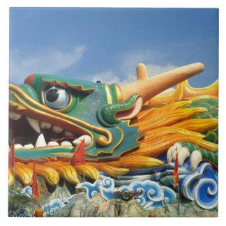 Famous Dragon at Haw Par Villa in Singapore Asia Tile
