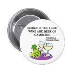 FAMOUS DUPLICATE BRIDGE QUOTE PIN