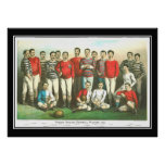 Famous English Football Players Vintage Poster Poster