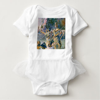 famous explorers and squaw baby bodysuit
