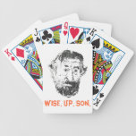 """FAMOUS FACES - """"Wise up Son"""" DeNiro Poker Card Set Bicycle Poker Cards"""