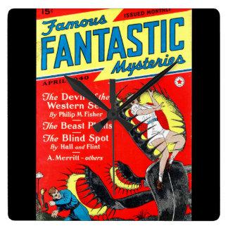 Famous Fantastic Mysteries (04-1940) 000_Pulp Art Square Wall Clock