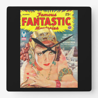 Famous Fantastic Mysteries 1944-12 0001_Pulp Art Square Wall Clock