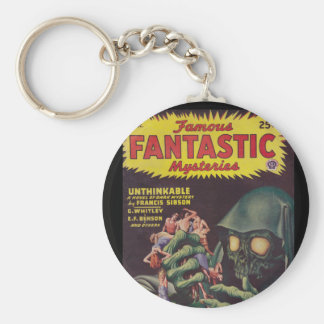 Famous Fantastic Mysteries 46-12_Pulp Art Basic Round Button Keychain