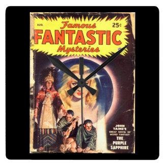 Famous Fantastic Mysteries 48-08 v09n06_Pulp Art Square Wall Clock