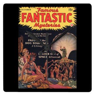 Famous Fantastic Mysteries v03n04 1941-10_Pulp Art Square Wall Clock