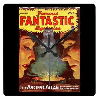 Famous Fantastic Mysteries v07 n01 000_Pulp Art Square Wall Clock