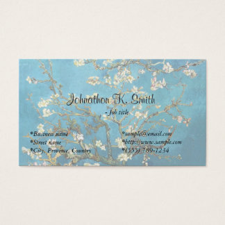 Famous fine art  Blossoming Almond Tree Business Card