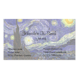 Famous fine art  Starry Night Business Card Templates