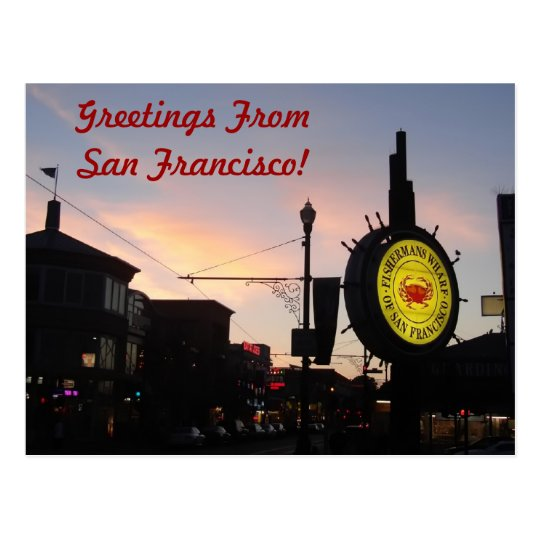 Famous Fisherman's Wharf Sign Postcard
