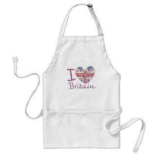 Famous Icons of the UK, I love Britain Adult Apron