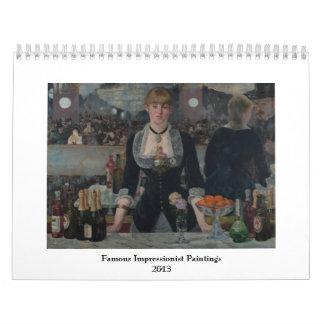 Famous Impressionist Paintings 2013 Calendar