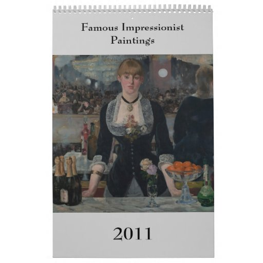 Famous Impressionist Paintings Wall Calendars